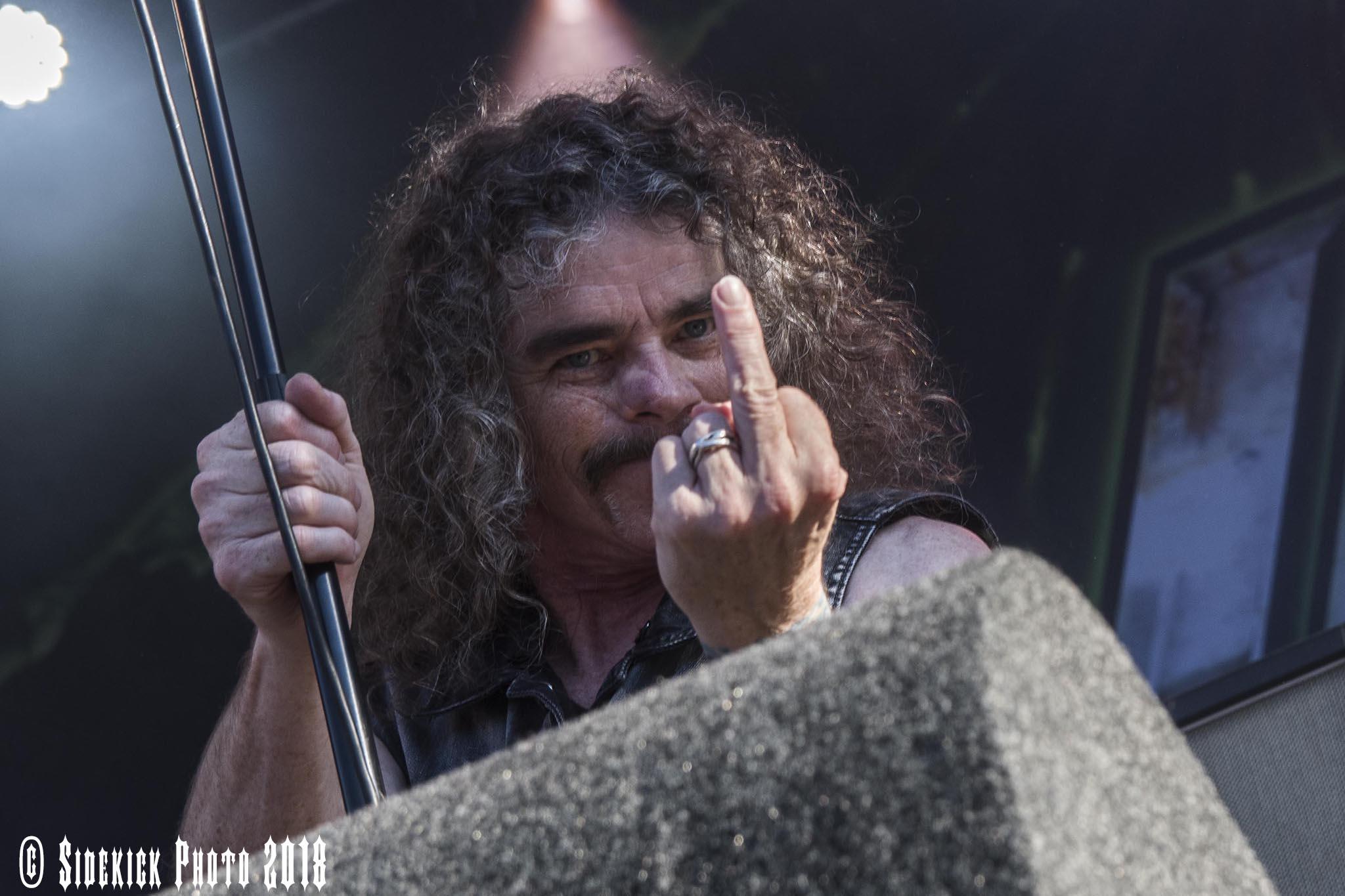 Bobby Blitz van Overkill - Foto door Kick Verhaegen.