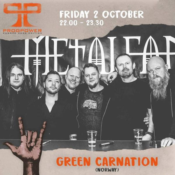 Green Carnation headliner ProgPower Europe