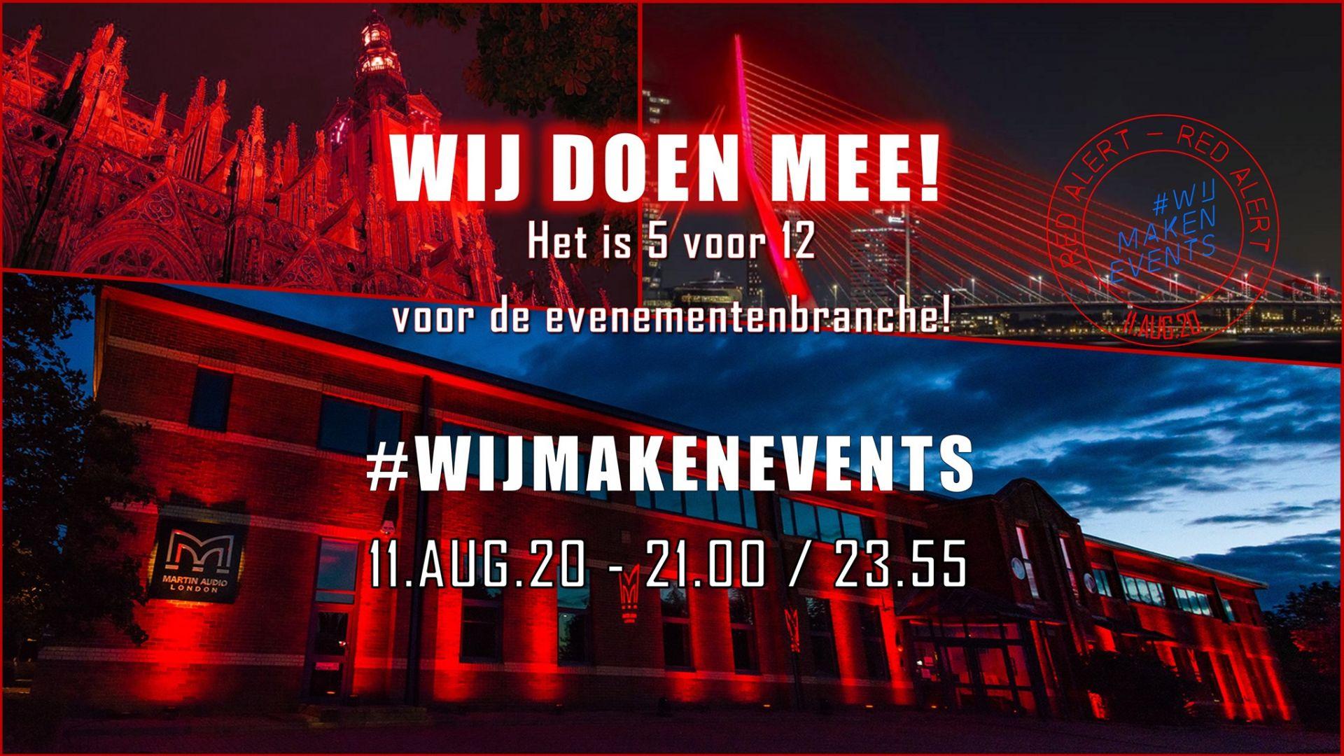 Nederlandse muziek- en evenementenindustrie voert actie