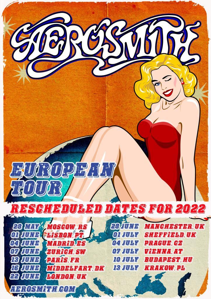 Aerosmith verplaatst Europese tournee naar 2022