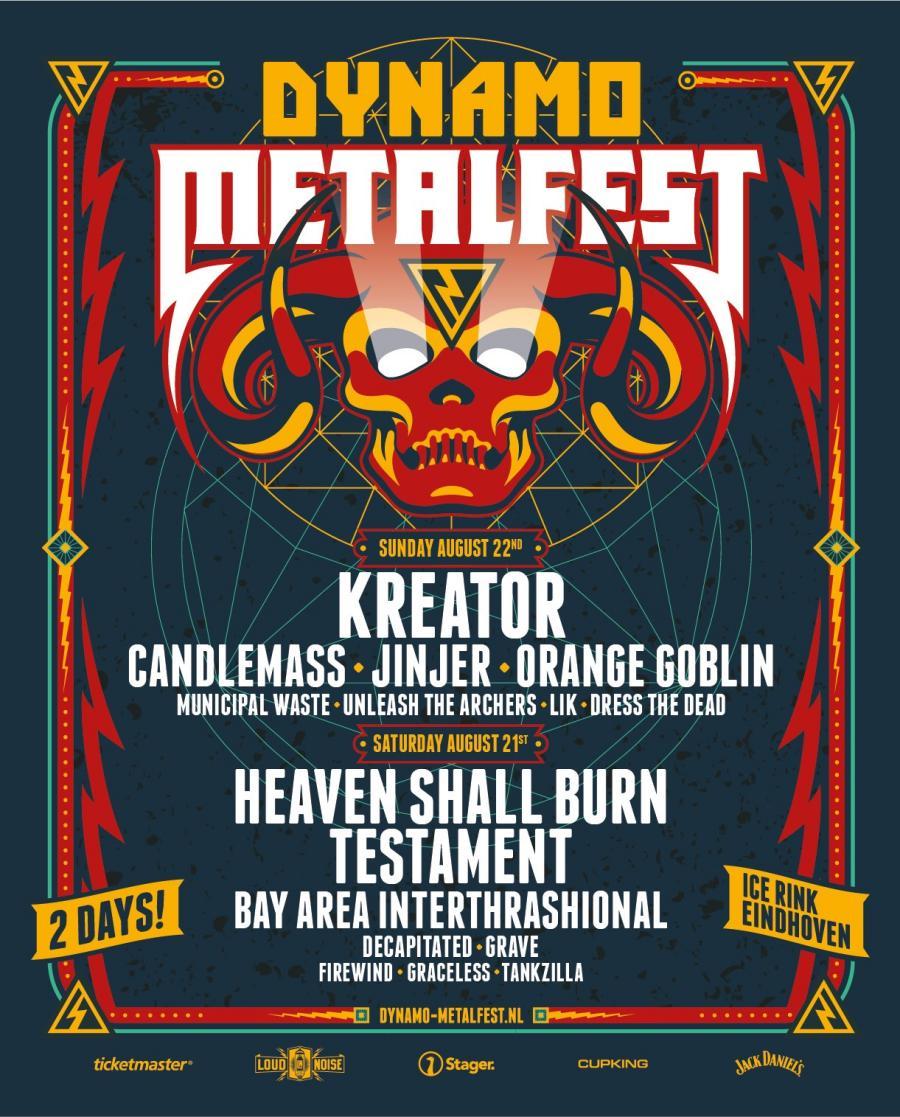 Kreator vervangt Amon Amarth op Dynamo Metalfest