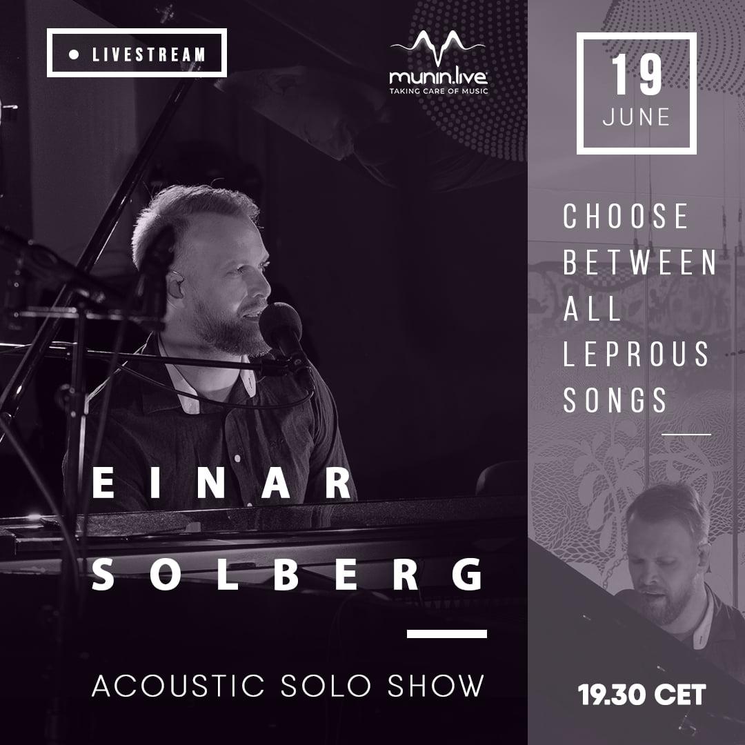 Livestream van Leprous-frontman Einar Solberg
