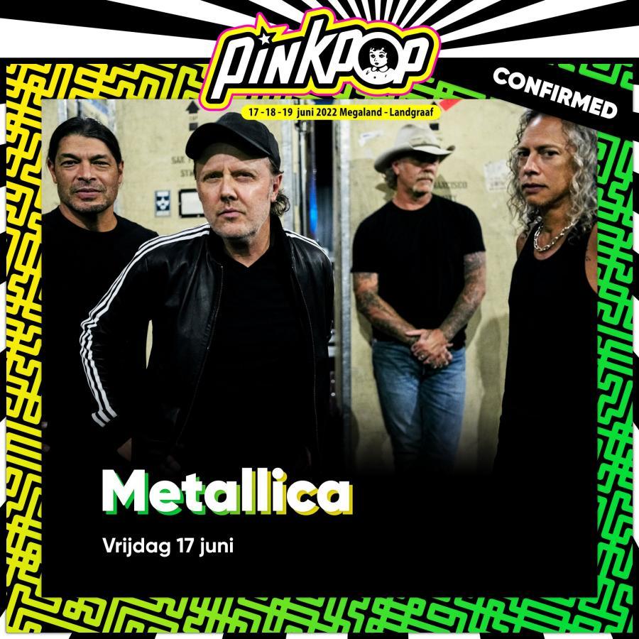 Metallica naar Pinkpop, Rock Werchter, Copenhell en meer