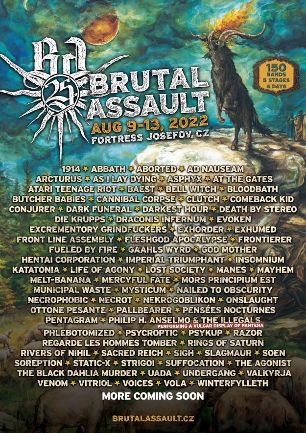 Eerste tachtig namen voor Brutal Assault 2022