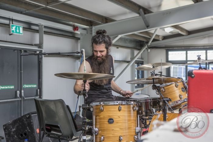 Workshop Voyager-drummer Ashley Doodkorte @ UK Techfest 2018, Newark Showground, Newark-on-Trent (UK), 06-07-2018