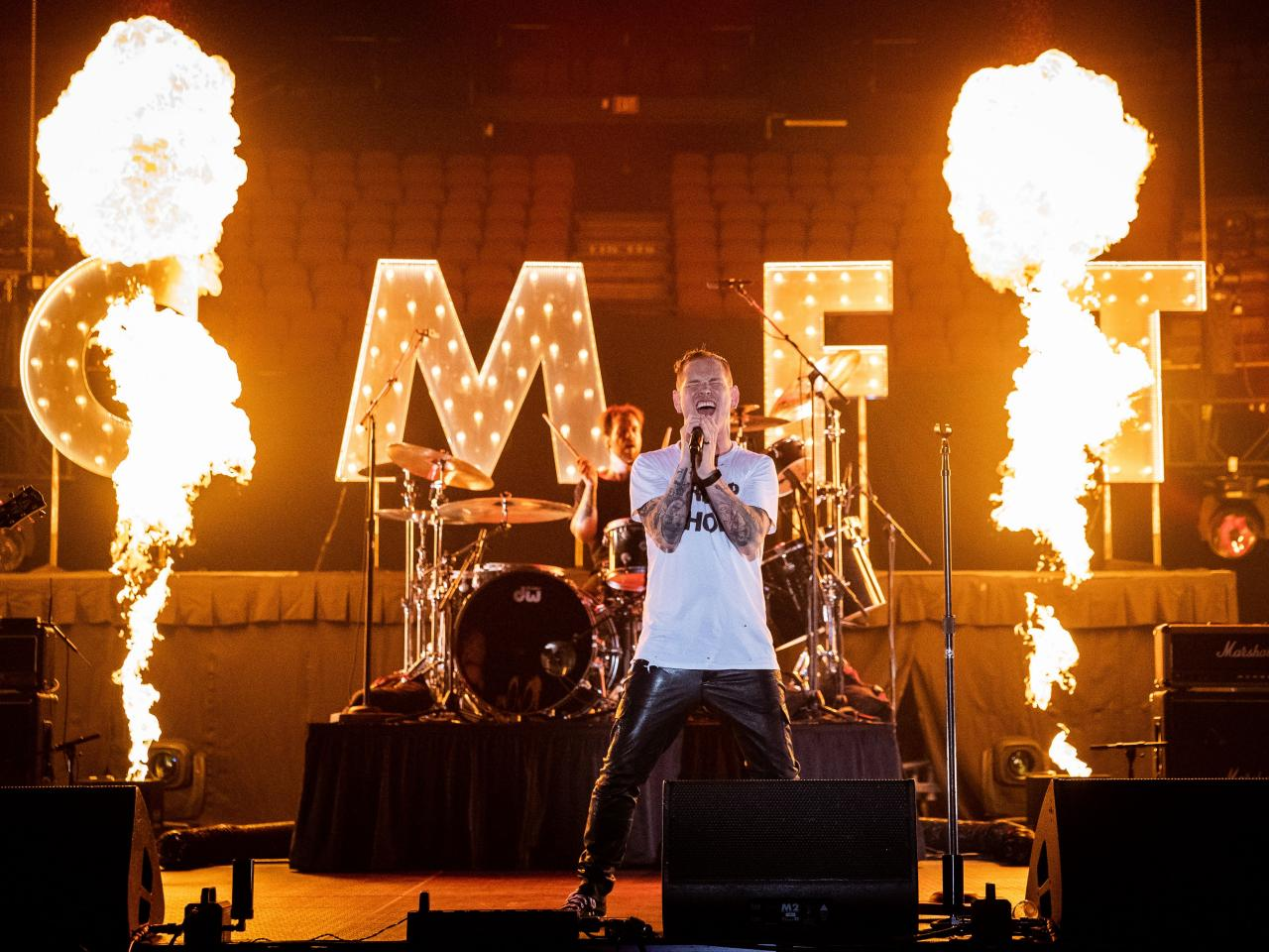 Corey Taylor @ The Forum, Los Angeles, 2-10-2020. Foto door Steve Thrasher